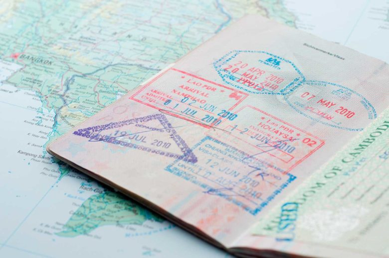 passaporte para países da América do Sul