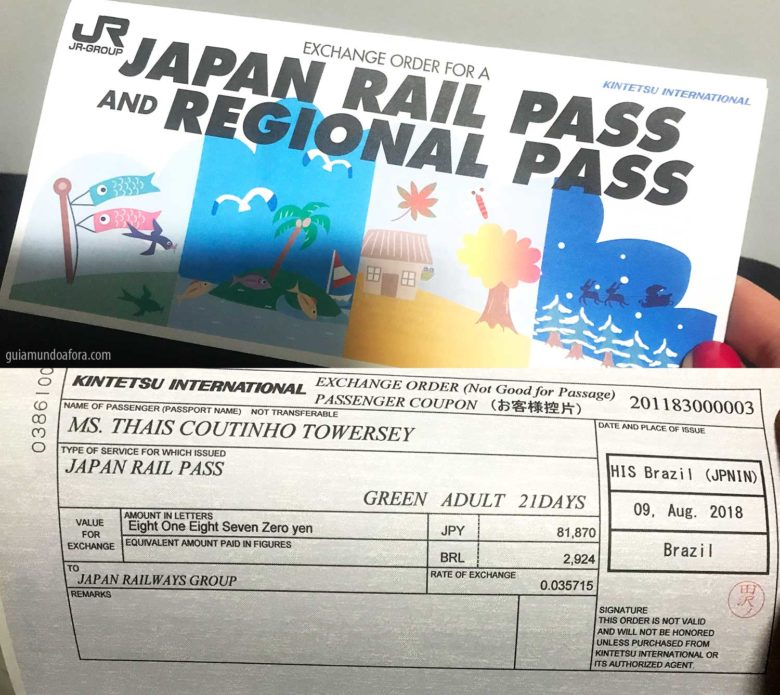 voucher JR pass no Japão