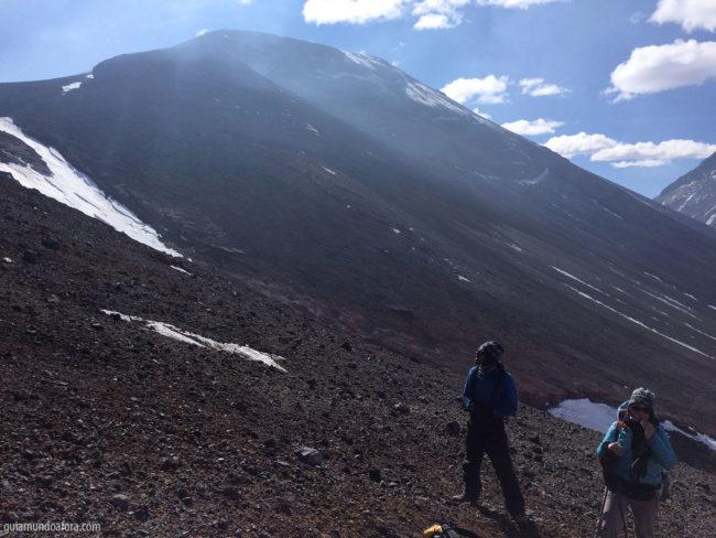 Inicio Lascar vista Atacama