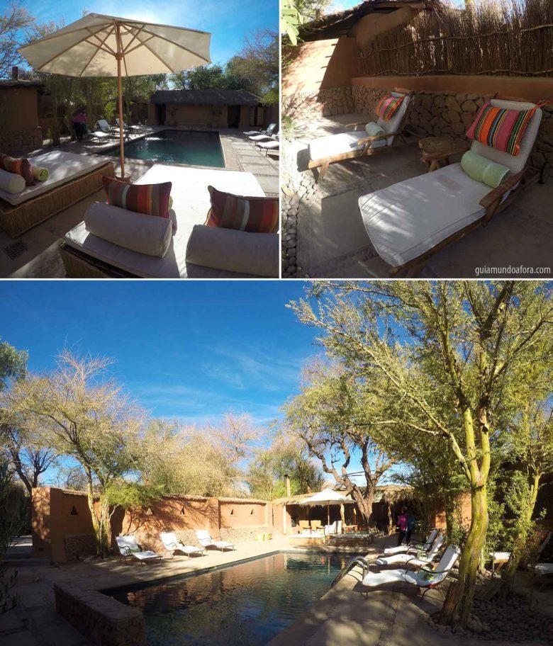 Piscina Awasi hotel no Atacama