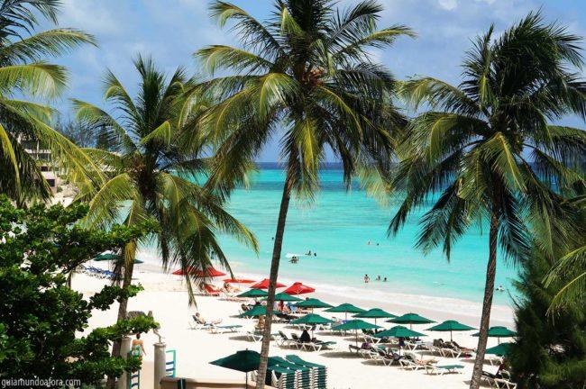accra beach, praias e barbados