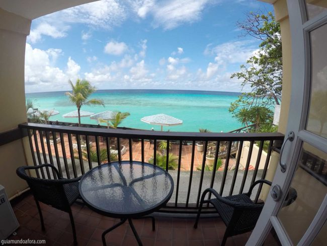 vista do quarto em Barbados no Caribe