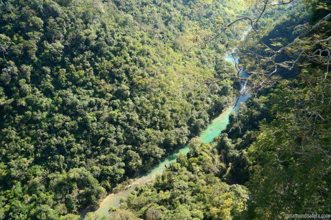 Rio Salobra visto do rapel