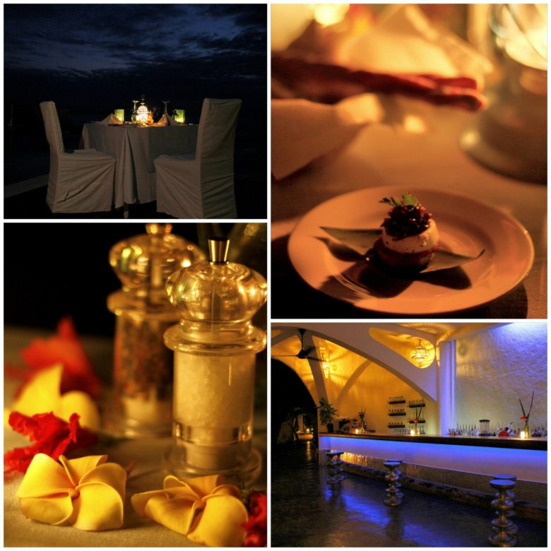 jantar no hotel em Zanzibar
