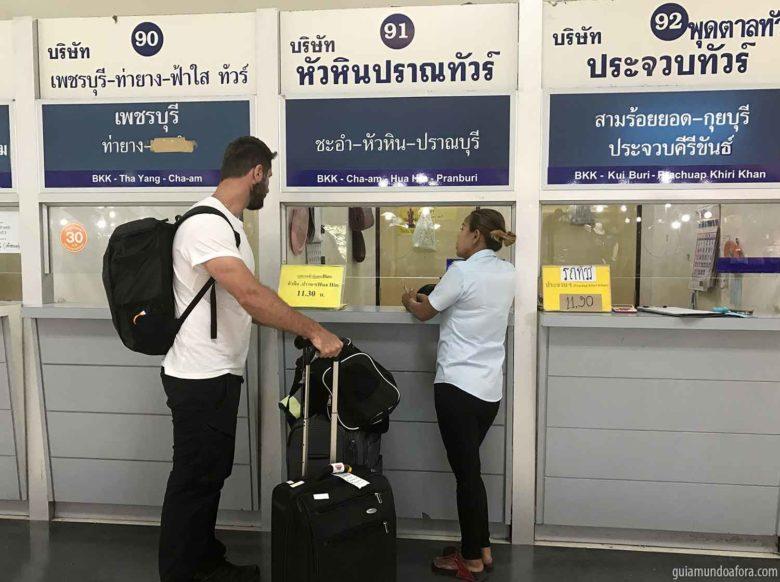 Malas para rodar dentro da Tailândia