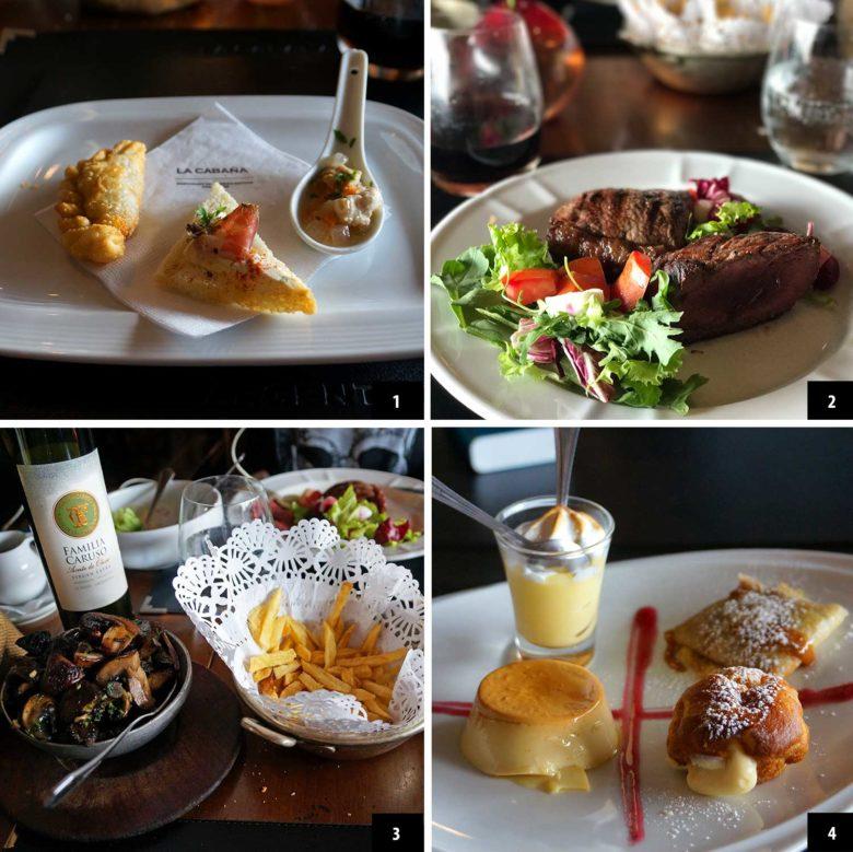 comidas do La Cabaña em Buenos Aires