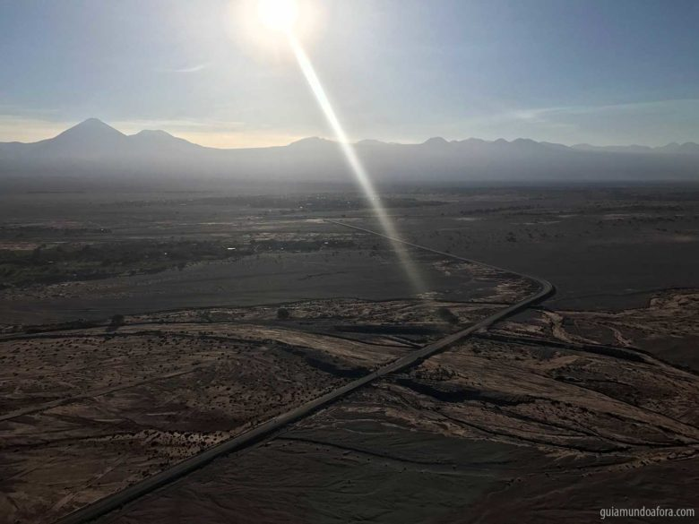 vista do balão no Atacama