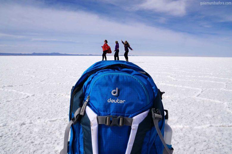 Equipamentos de trekking no Uyuni