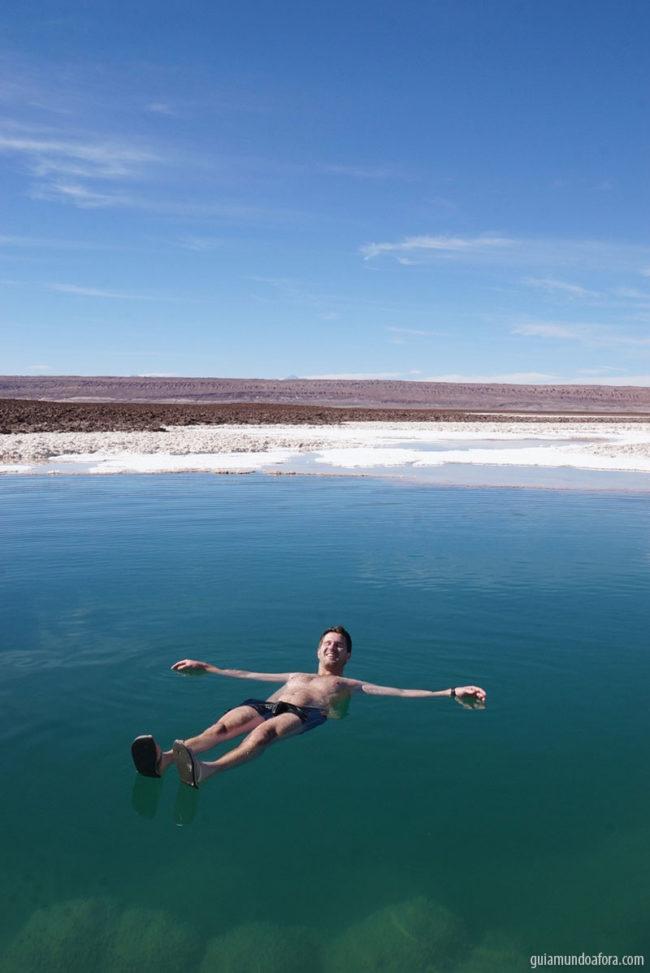 flutuando nas Lagunas escondidas