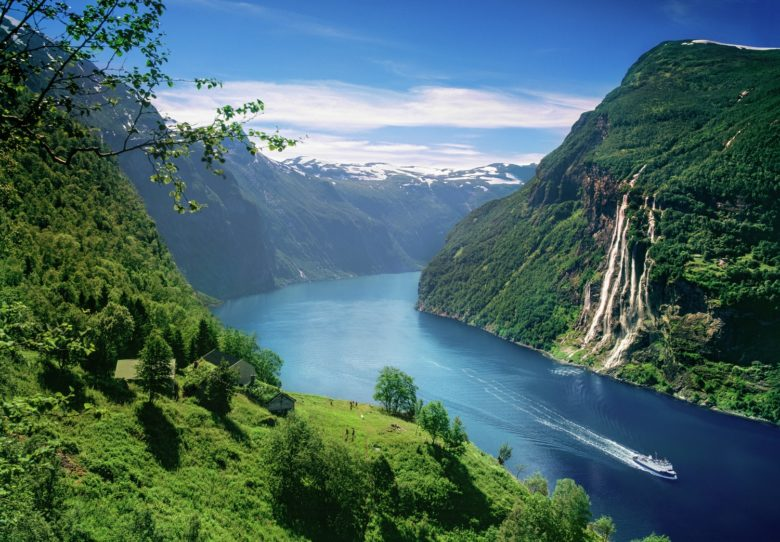 Geiranger um dos patrimônios da UNESCO na Noruega