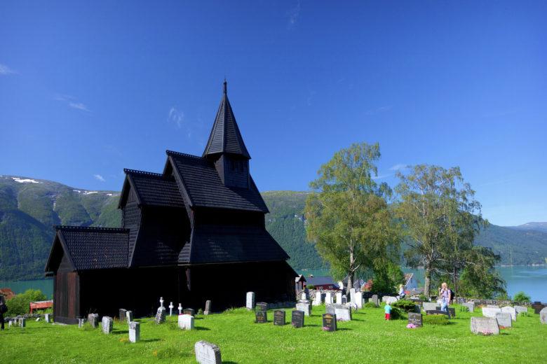 Igreja de madeira de Urnes, um dos patrimônios da UNESCO na Noruega