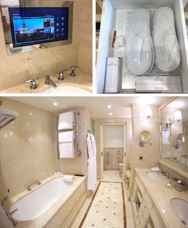 banheiro de hotel em Paris