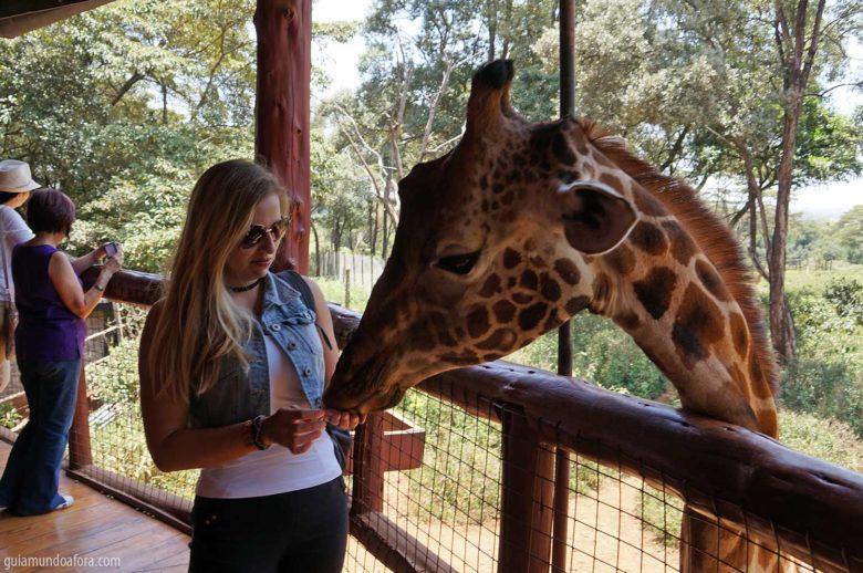 Centro de Girafas em Nairóbi