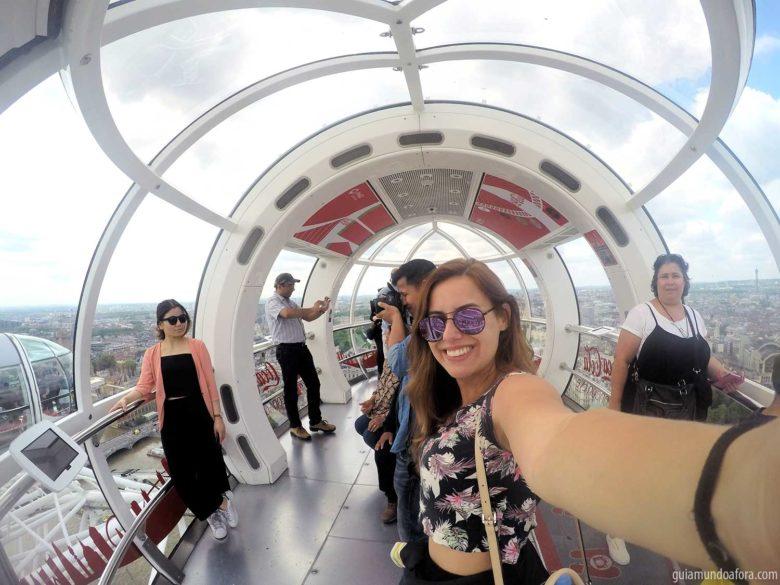 Londres do alto no London Eye
