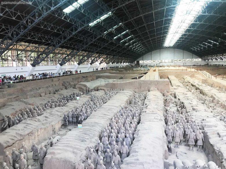 Pit 1 dos Guerreiros de Terracota em Xian