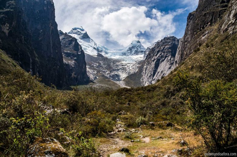 Trilha no parque Huascarán
