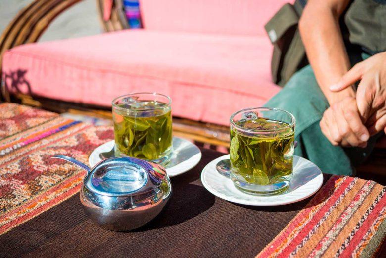 problemas de altitude no Peru chá de coca