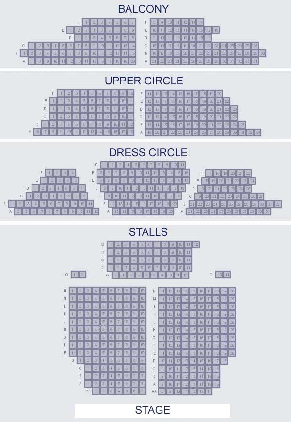 mapa-assentos Musicais em Londres: como comprar ingressos e o que assistir