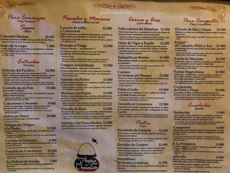 cardapio-agua-chocolates-min-780x585 Onde comer em Santiago: Top 3 restaurantes deliciosos!