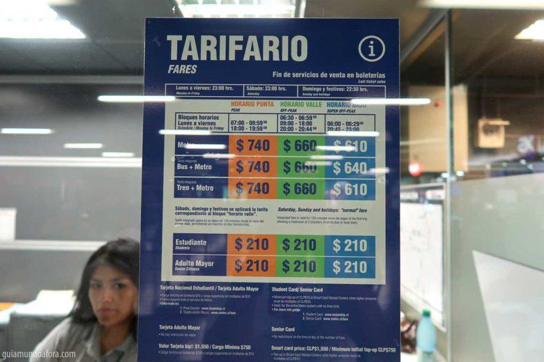 precos-metro-santiago-min-780x520 Transporte em Santiago: Uber, Táxi ou metrô? (com preços!)