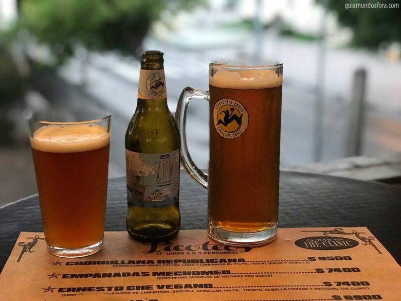 cerveja em Santiago