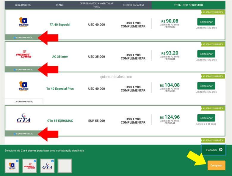 comparar-seguros-min-780x594 Seguro viagem barato - como comprar? (COM PREÇOS!)