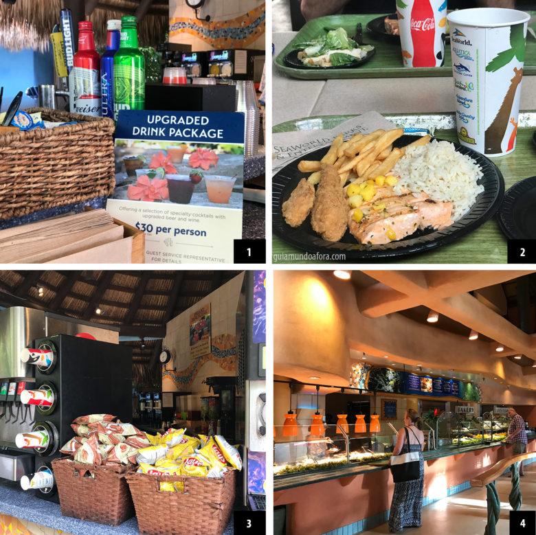 comidas do Discovery Cove Orlando